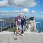 Top van de apenrots Gibraltar.