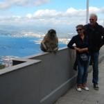 Aap, Madee en Hans op Gibraltar top