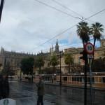 Sevilla in de regen