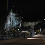 Gibraltar bij nacht