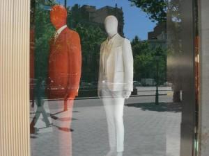 Oranje en wit op de Ramblas