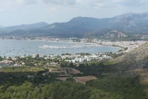 Langs de oostkant van Mallorca, baai van Pollensa