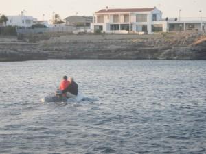 Per vertrekt van Menorca, wij naar oostkant Mallorca