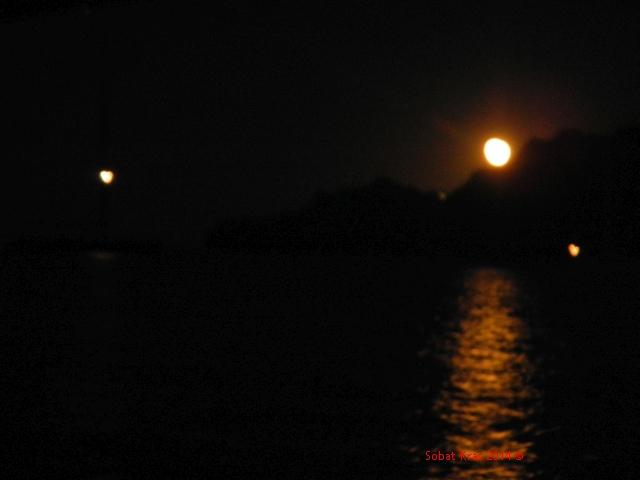 maan komt op