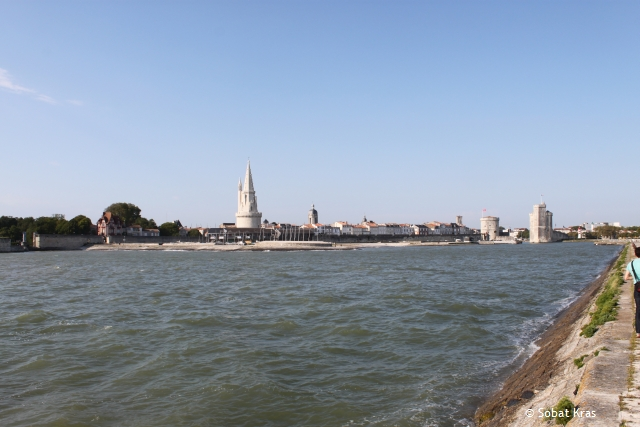 La Rochelle zicht op de stad