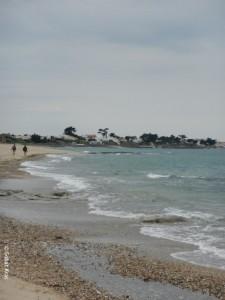 Ile de Noirmoutier strand naast de haven
