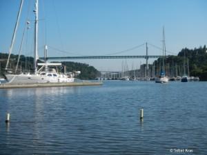 La Roche Bernard brug naar Marzan